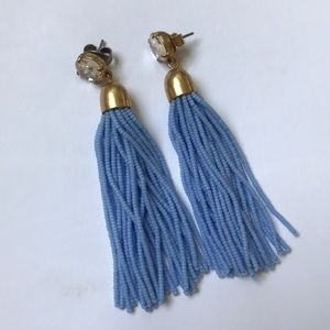 J.Crew Periwinkle Tassel Earrings